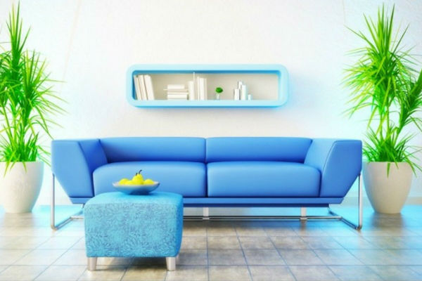 Interior design blue