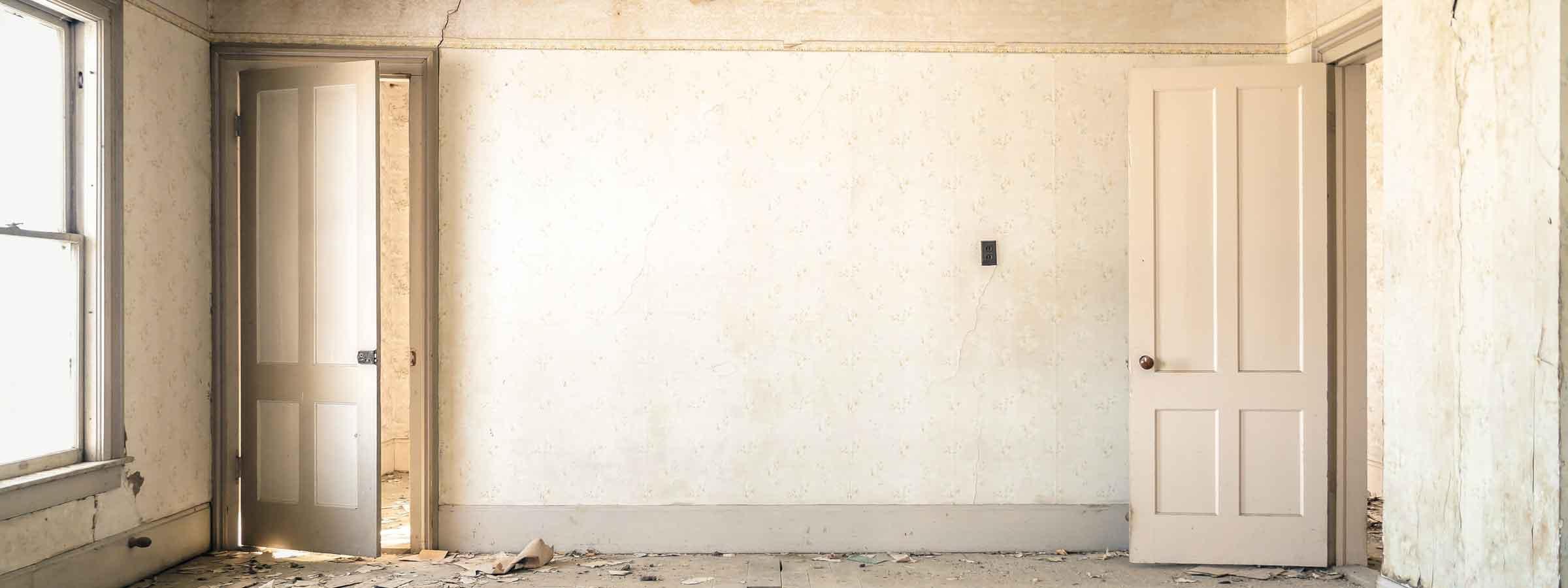 Stanza di un abitazione durante la ristrutturazione dell' appartamento.