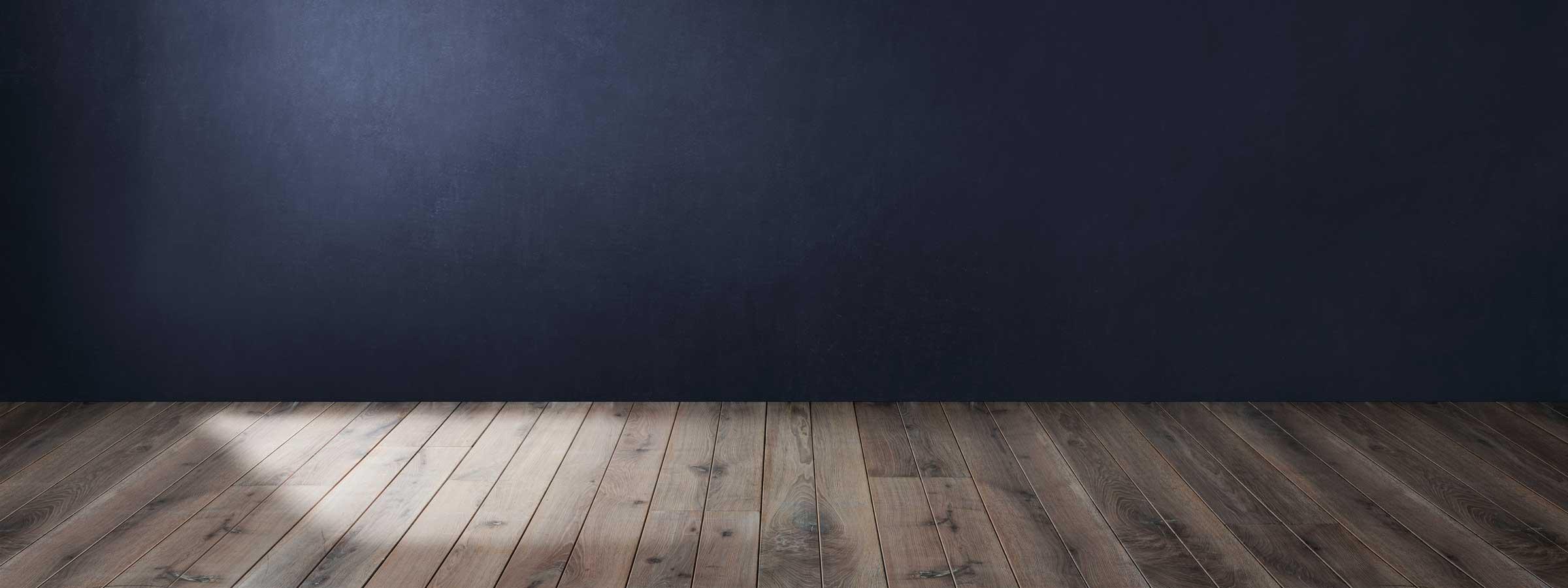 Vista di un parquet in legno chiaro
