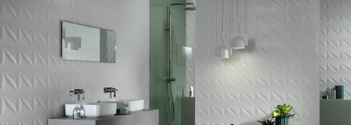 Rivestimenti per il bagno di AtasConcorde, splendido lavello e cabina doccia