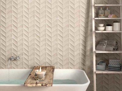 Mazzini rivestimenti, rivestimento del bagno effetto sabbia