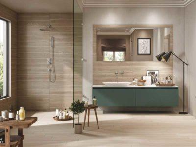 Ceramiche rondine, rivestimento del bagno con effetto legno