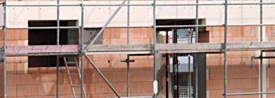 Cantiere di una ristrutturazione in edilizia convenzionata