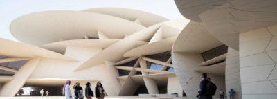 Vista esterna del museo nazionale del Qatar progettato dall'architetto Jean Nouvell