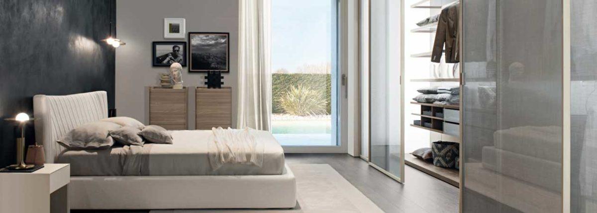 Vista di una camera da letto della collezione Picà di Zalf