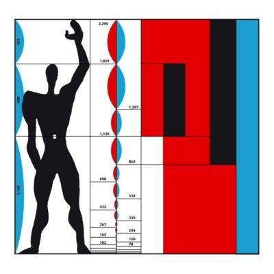 Rappresentazione del Modulor di Le Corbusier