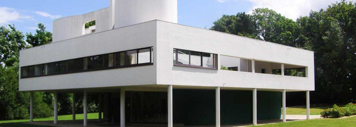 Vista frontale di Villa Savoye