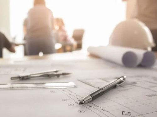 Primo piano di un progetto di edilizia scolastica