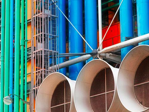 I colori del Centre Pompidou