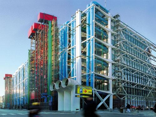 Centre Pompidou di Parigi, vista esterna