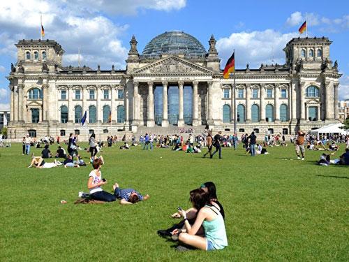 giardini esterni del Palazzo del Reichstag