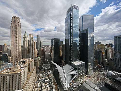 3 World Trade Center visto dall'alto