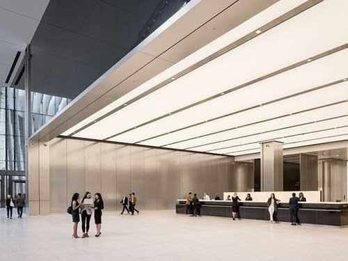 3 World Trade Center visto all'interno