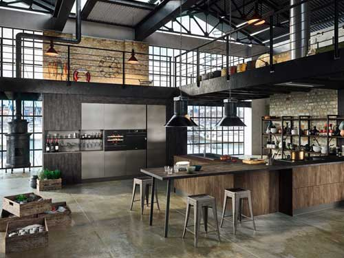 Cucina industriale open space