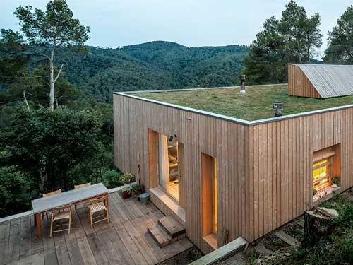 Casa edificata con progetti di architettura bioclimatica