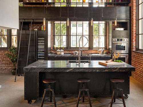 Cucina in stile industrial chic